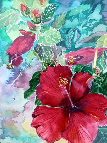 Hibiscus Flower Painting - Rose Of Sharon by Mindy Newman