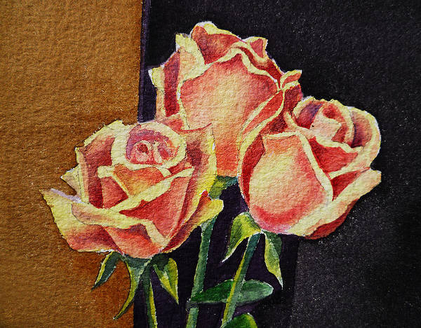 Girly Painting - Roses   by Irina Sztukowski