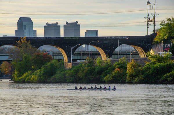 Wall Art - Photograph - Rowing In Philadelphia by Bill Cannon