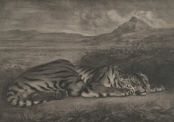 Relief - Royal Tiger by Eugene Delacroix