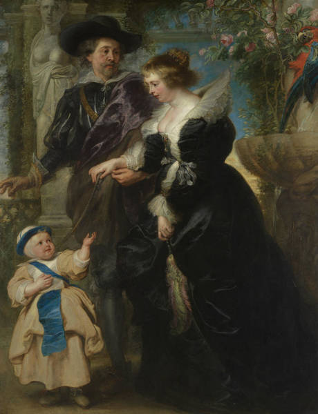 Painting - Rubens, His Wife Helena Fourment, And Their Son Frans  by Peter Paul Rubens