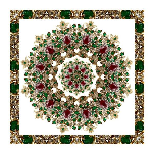 Ruby And Emerald Kaleidoscope Art Print