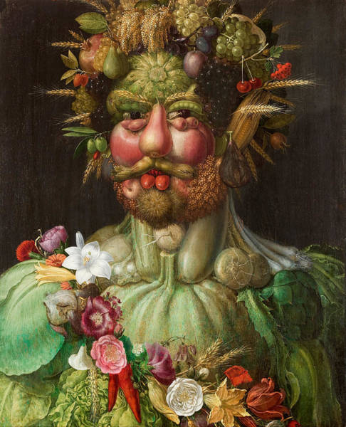Barley Painting - Rudolf II Of Habsburg As Vertumnus by Giuseppe Arcimboldo