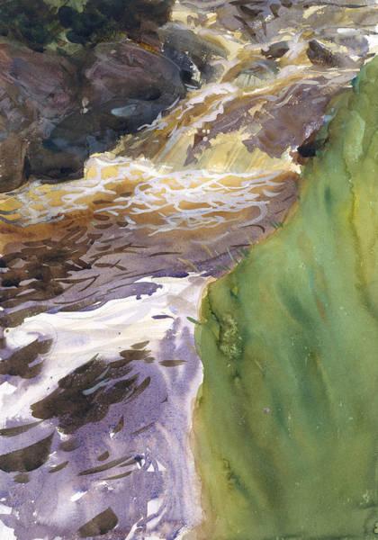 Drawing - Rushing Water by John Singer Sargent