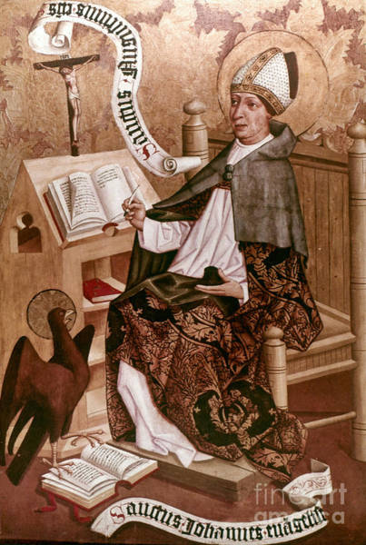 Painting - Saint Augustine (354-430) by Granger