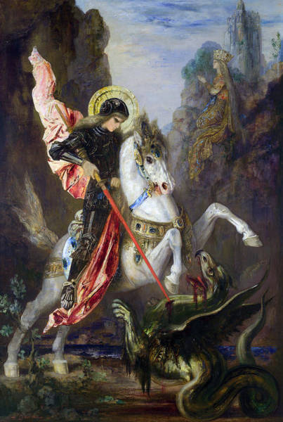 Painting - Saint George And The Dragon by Gustave Moreau