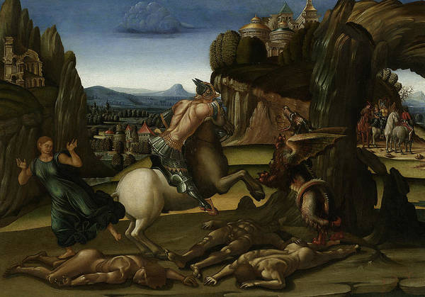 Wall Art - Painting - Saint George And The Dragon  by Luca Signorelli