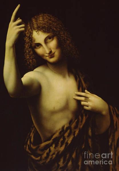Wall Art - Painting - Saint John The Baptist by Leonardo Da Vinci