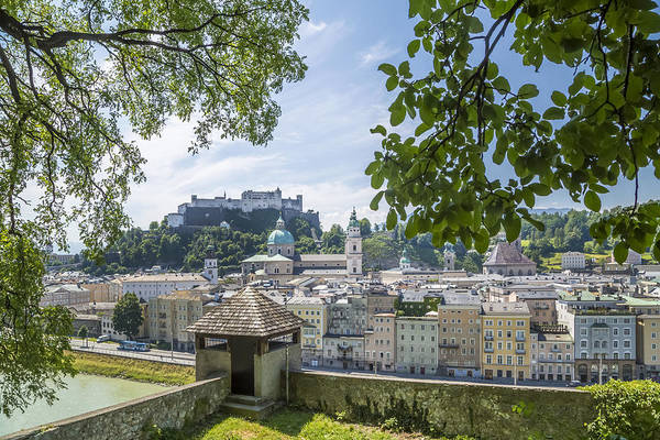 Mozart Photograph - Salzburg Gorgeous Old Town With Citywall by Melanie Viola