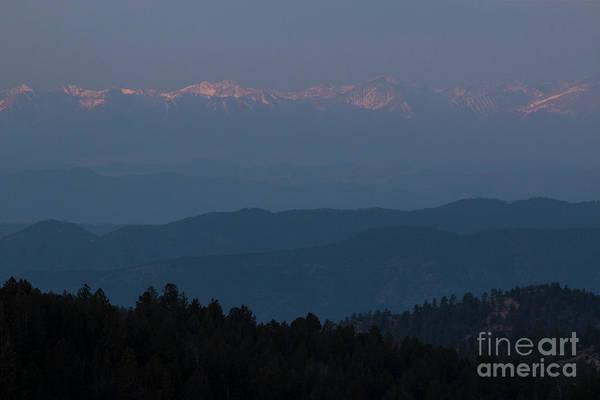 Photograph - Sangre De Cristo Mountain Moonset by Steve Krull