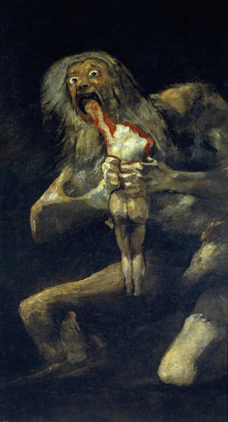 Wall Art - Painting - Saturn Devouring His Son by Francisco Goya