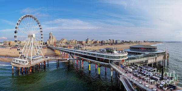 Scheveningen Pier Photograph - Scheveningen, The Hague, The Netherlands by Karol Kozlowski
