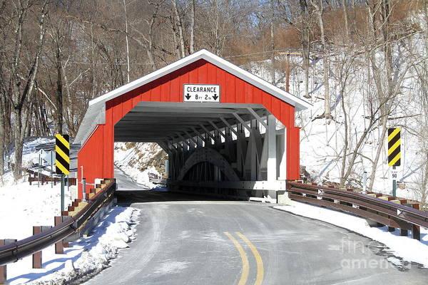 Wall Art - Photograph - Schlicher's Covered Bridge by Ken Keener