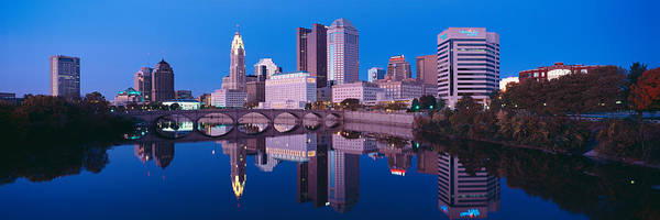 Scioto Photograph - Scioto River And Columbus Ohio Skyline by Panoramic Images