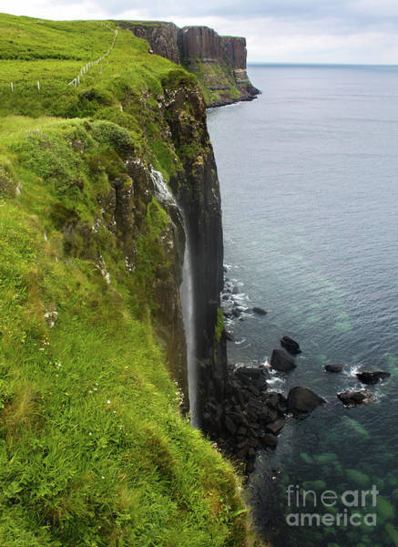 Photograph - Isle Of Skye Kilt Rock And Mealt Falls by Gregory Dyer
