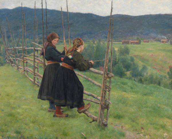 Painting - September by Erik Werenskiold