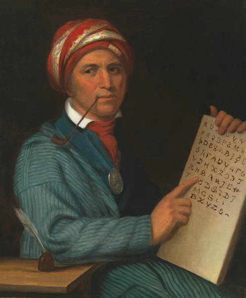 Wall Art - Painting - Sequoyah by Henry Inman
