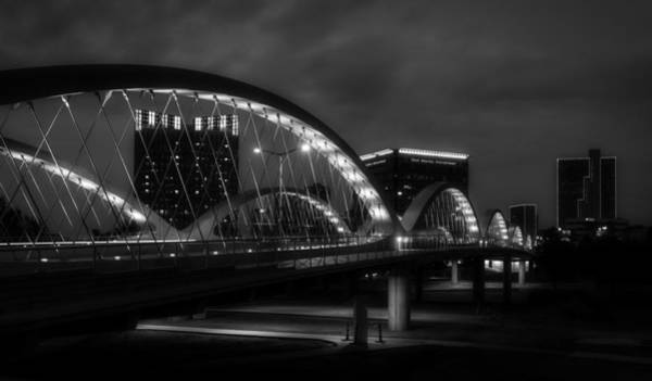 Fort Worth Photograph - Seventh Street Bridge Night Lights - Fort Worth Texas by Mountain Dreams