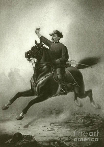 Tear Drawing - Sheridan's Ride by Thomas Buchanan Read