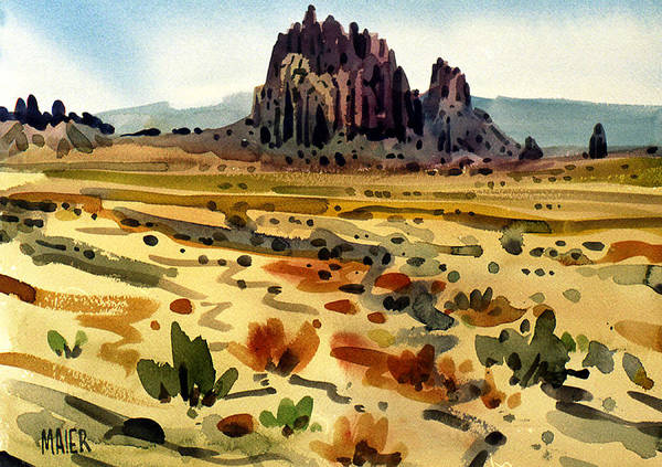 Butte Painting - Shiprock by Donald Maier
