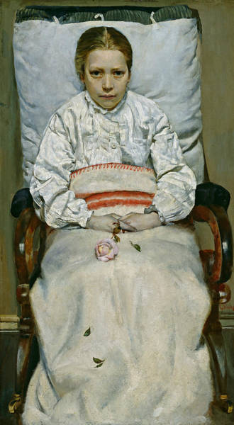 Painting - Sick Girl by Christian Krohg