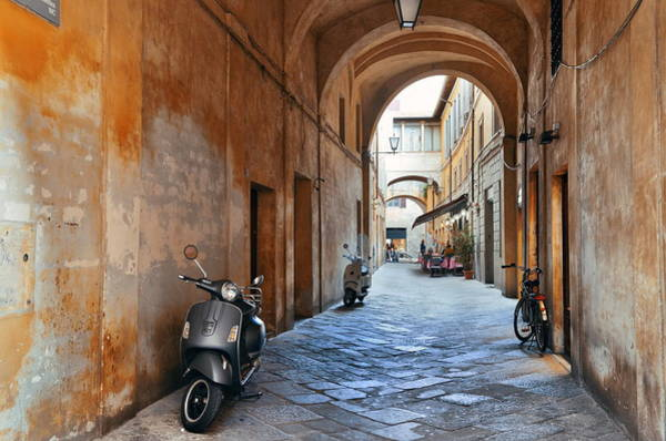 Photograph - Siena Street Archway by Songquan Deng