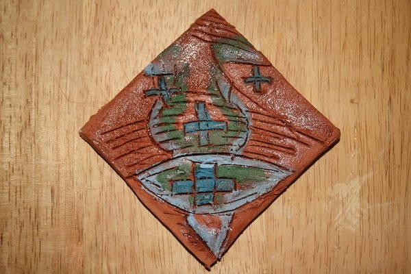 Ceramic Art - Silence - Tile by Gloria Ssali