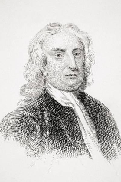 Wall Art - Drawing - Sir Isaac Newton 1642-1727 English by Vintage Design Pics
