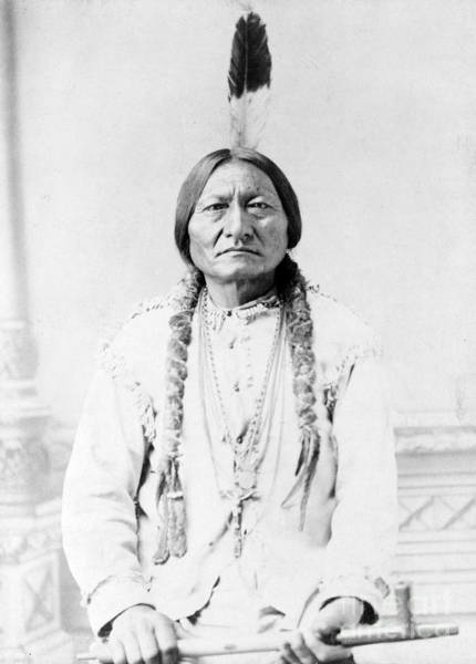 Wall Art - Photograph - Sitting Bull, Lakota Tribal Chief by Science Source