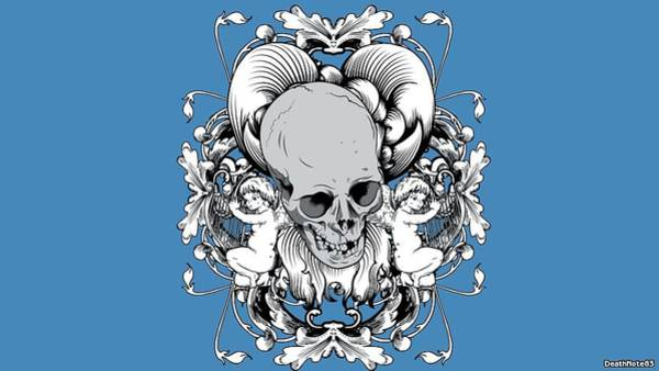 Pattern Digital Art - Skull by Maye Loeser