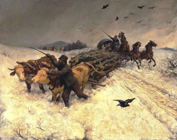 Painting - Sleigh Ride by Rudolf Koller