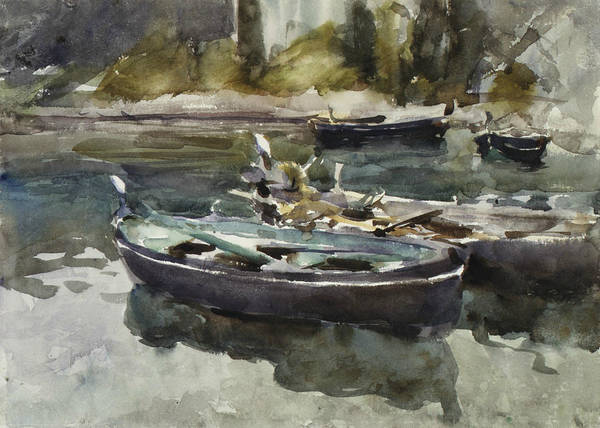 Drawing - Small Boats by John Singer Sargent