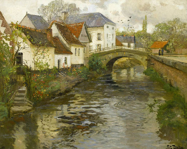 Painting - Small Town Near La Panne by Frits Thaulow
