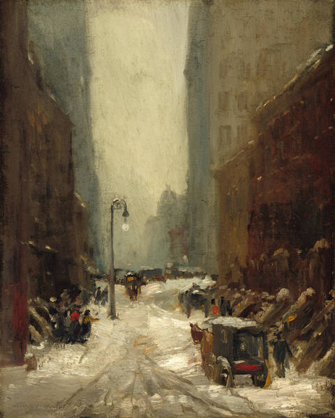 Wall Art - Painting - Snow In New York by Robert Henri