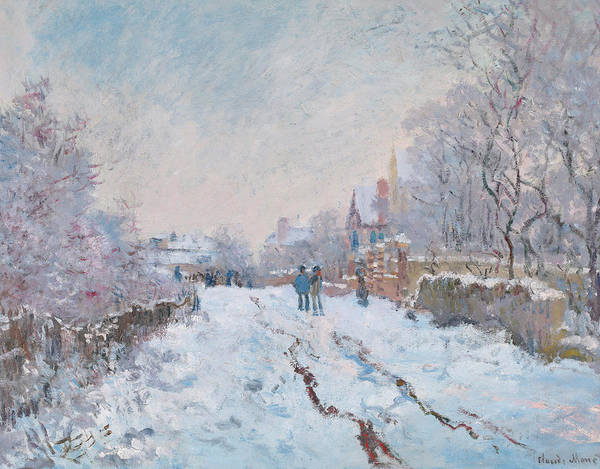 Winter Walk Painting - Snow Scene At Argenteuil by Claude Monet