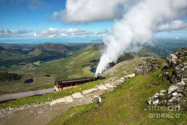 Coastline Digital Art - Snowdon Mountain Railway by Adrian Evans