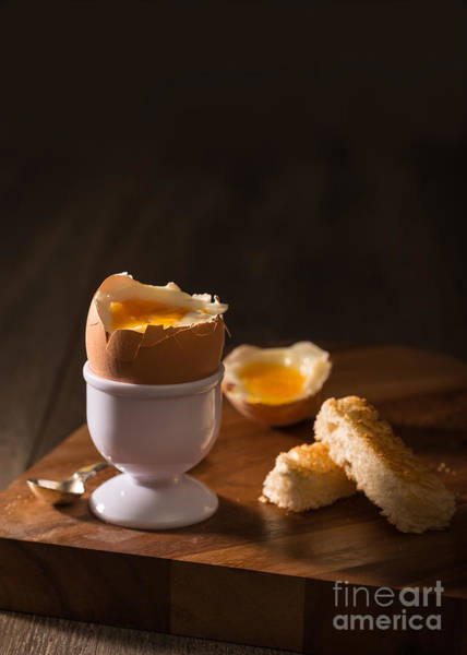 Yolk Wall Art - Photograph - Soft Boiled Egg by Amanda Elwell