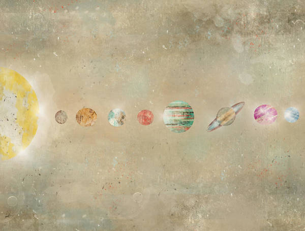 Wall Art - Painting - Solar System by Bri Buckley