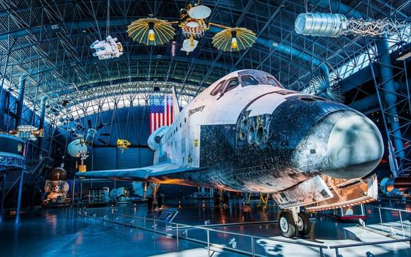 City Digital Art - Space Shuttle Discovery by Super Lovely