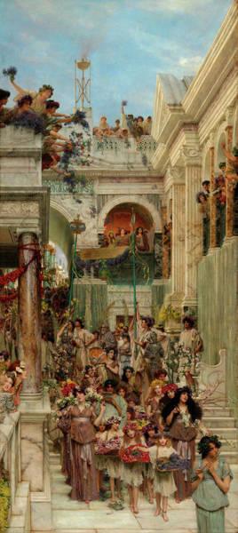 Wall Art - Painting - Spring by Sir Lawrence Alma-Tadema