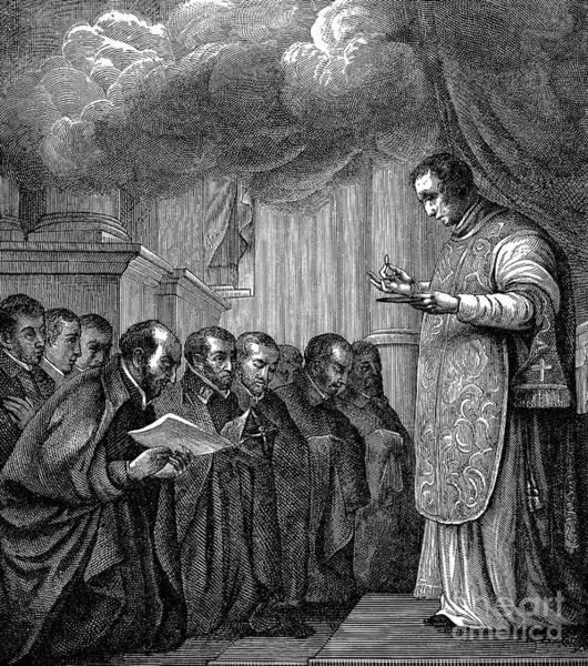 Vows Photograph - St. Ignatius Loyola by Granger