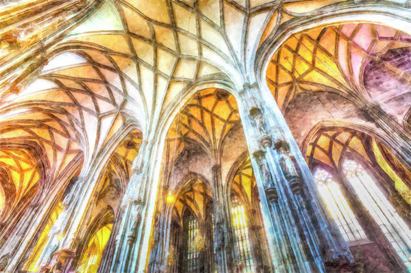 Wall Art - Photograph - St Stephens Cathedral Vienna Art by David Pyatt