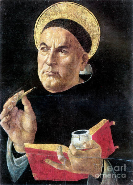 Sandro Botticelli Painting - St. Thomas Aquinas by Granger
