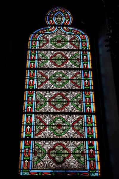 Loretto Chapel Photograph - Stained Glass - Loretto Chapel - Santa Fe - New Mexico by Jon Berghoff
