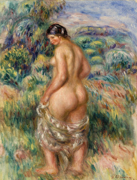 Wall Art - Painting - Standing Bather by Pierre-Auguste Renoir