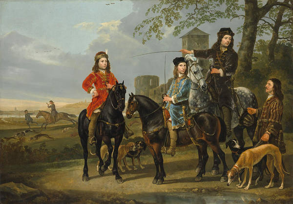 Cuyp Wall Art - Painting - Starting For The Hunt by Aelbert Cuyp
