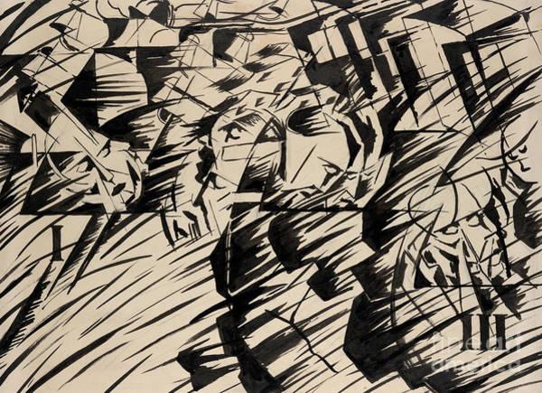 Boccioni Wall Art - Painting - States Of Mind Those Who Go by Umberto Boccioni