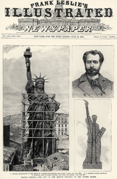 Photograph - Statue Of Liberty, 1885 by Granger