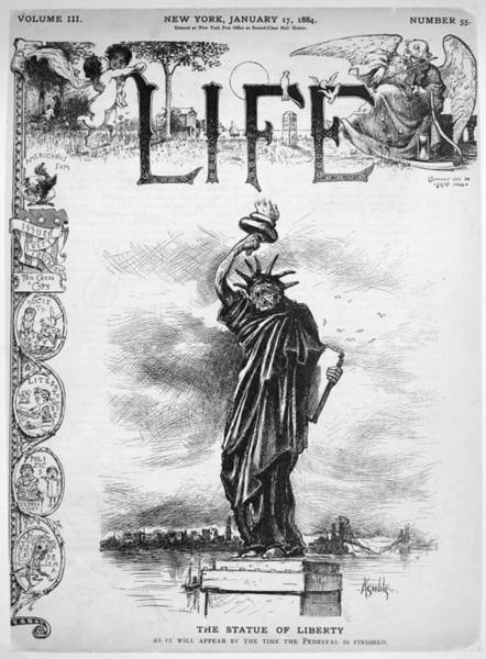 Photograph - Statue Of Liberty Cartoon by Granger