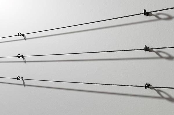 Advertisement Digital Art - Steel Cable Display Wall by Allan Swart